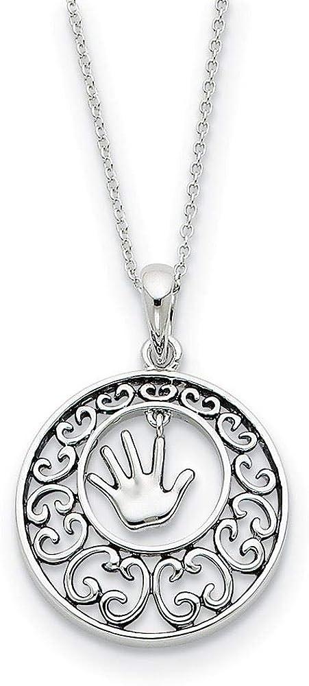 Sentimental Expressions Sterling Silver Antiqued Children Necklace 18