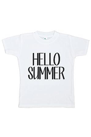 2a8d217fe786 Amazon.com  Custom Party Shop Baby s Hello Summer T-shirt  Clothing