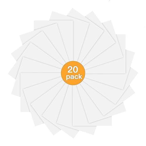 JANDJPACKAGING - Papel adhesivo de vinilo para impresora de ...