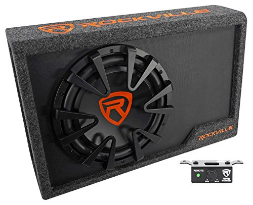 Powered Subwoofer Enclosure - Rockville RWS12CA Slim 1200 Watt 12