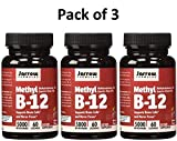 Jarrow Formulas Methyl B12, Methylcobalamin (Pack of 3)