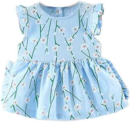 15698446533 Baby and Toddler Girls Dresses Infant Child Kids Skirt Sleeveless Floral  Print Dresses Clothes Outfits