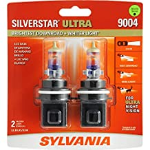 SYLVANIA 9004 SilverStar Ultra High Performance Halogen Headlight Bulb, (Pack of 2)