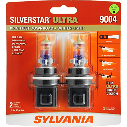 SYLVANIA 9004 SilverStar Ultra High Performance Halogen Headlight Bulb, (Contains 2 Bulb)