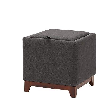 Swell Amazon Com Mz Solid Wood Storage Ottoman Stool With Lid Machost Co Dining Chair Design Ideas Machostcouk