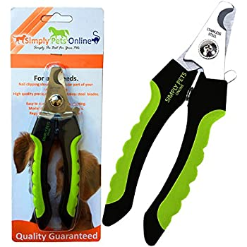 Large Dog Nail Clippers | with quick sensor, Safety Lock and Non Slip Rubber Handles Easy to use for Grooming and Nail Trimming - Ideal for Medium and Large Dogs | Designed by 2 Veterinarians