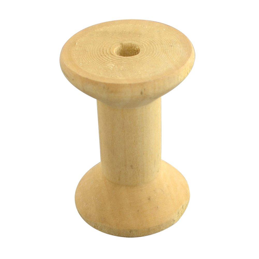 Nbeads 100pcs Filetage en bois bobines vide bobines pour fils, sans plomb, 45x 30mm, trou: 7mm trou: 7mm WOOD-Q015-45mm-LF