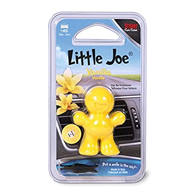 Little Joe 96402 Vanilla Scent, Car Air Freshener, Clips to A/C Air Vent, Alcohol-Free Fragrance Oil, Non-Hazardous and Non-Toxic Plastic, Set of 1: Automotive