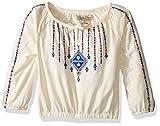 Lucky Brand Little Girls' Peasant Top, Vanilla Ice, 5