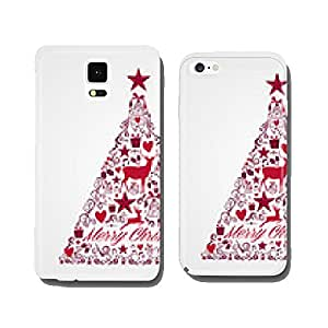 Merry Christmas tree shape full of elements composition EPS10 fi cell phone cover case Samsung S6