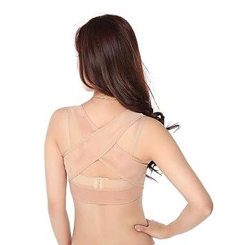 Heylookhere Aliviar el estrés Corrector de Postura Corrector de Joroba Corrección de Joroba Soporte de Sujetador de Pecho Brazalete para Mujer - Talla XL: ...