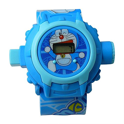 Doraemon Cartoon images Projector Watch Kids Digital Wrist Watch cartoon character watch by SwissRock