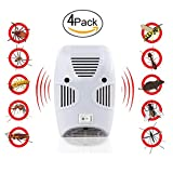 MangGou Pest Control,Ultrasonic Pest Repellent,Electronic Plug in Pest Reject,Pack of 4 - Repels Mice, Rats, Roaches, flies ,Mosquito, Spiders, Ants & Other Insects,Non-toxic Environment-friendly