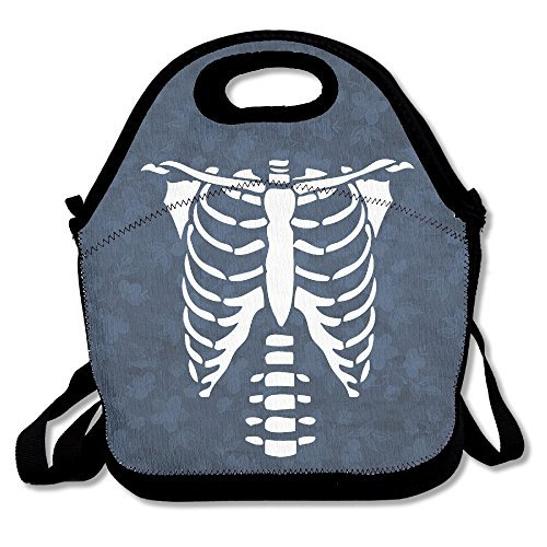 Halloween Skeleton Glow In The Dark Lunch Bag Lunch Tote