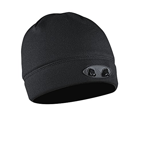 POWERCAP LED Beanie Cap 35/55 Ultra-Bright Hands Free LED Lighted Battery Powered Headlamp Hat - Black Fleece (CUBWB-4553) Led Cap