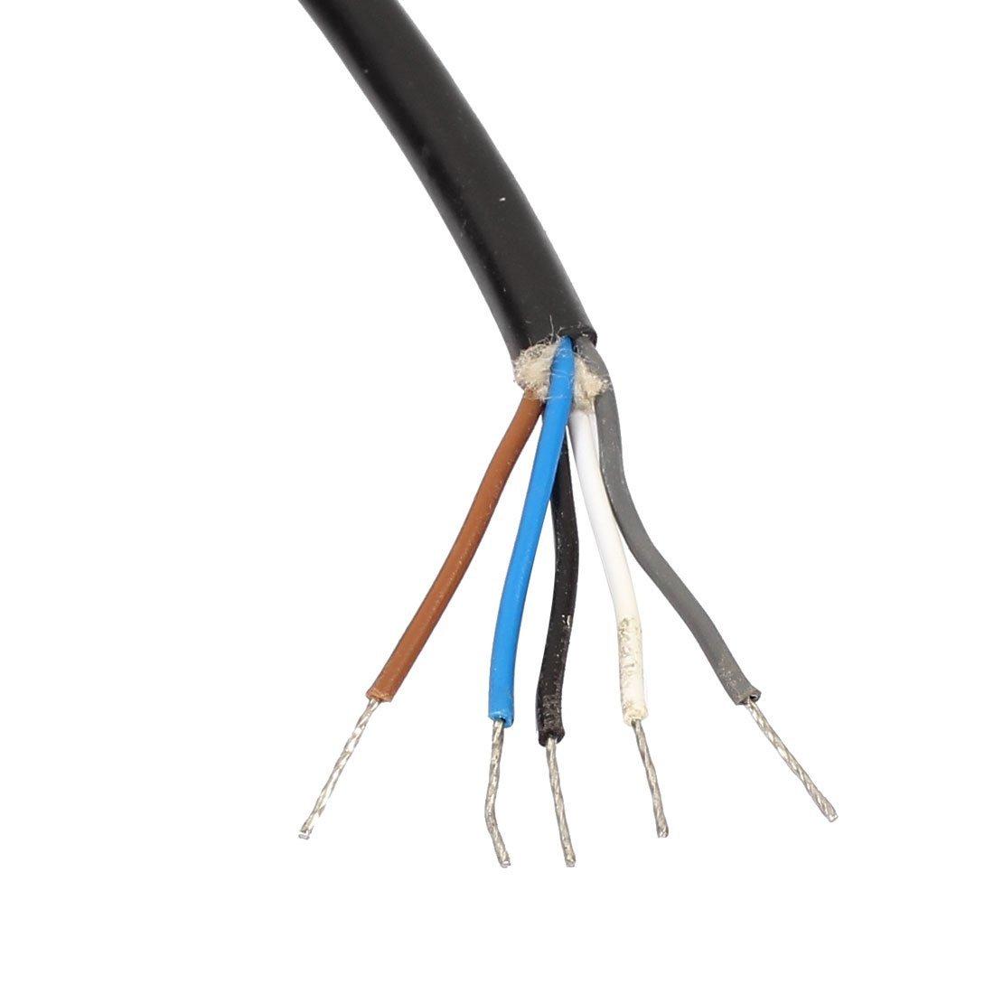 eDealMax M12 2M femenino de ángulo recto de 5 pines del conector del cable eléctrico del zócalo de Aviación - - Amazon.com
