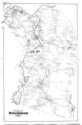 1879 Middleborough (Middleboro), Massachusetts MA map (Walkers Swamp)