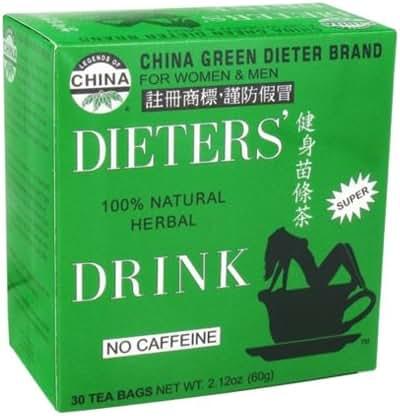 Uncle Lee's China Green Dieters Tea Caffeine Free - 30 Tea Bags 2.12 oz
