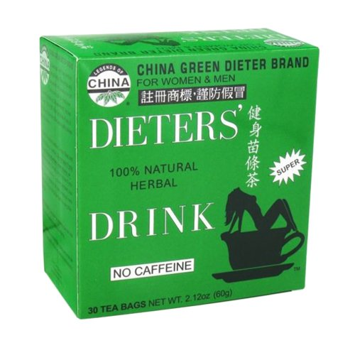 Uncle Lee's China Green Dieters Tea Caffeine Free - 30 Tea Bags...