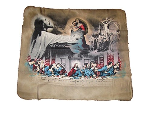 Jesus Christ Last Supper Dinner Christian Catholic 50x60 Polar Fleece Blanket Throw by AES
