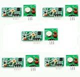 433mhz module - Gowoops 5 Sets of 433Mhz RF Transmitter and Receiver Link Kit for Arduino (2pcs/set)