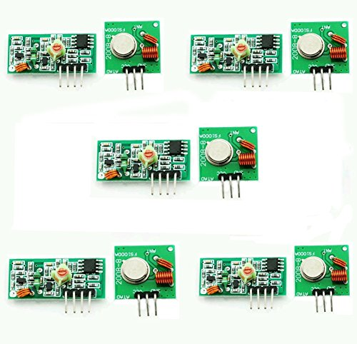 Transmitter Receiver Circuits - Gowoops 5 Sets of 433Mhz RF Transmitter and Receiver Link Kit for Arduino (2pcs/Set)