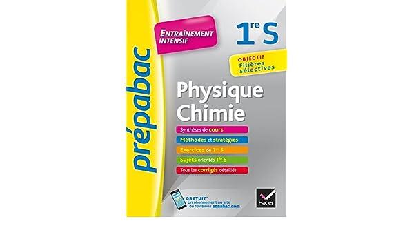 Physique Chimie 1re S : Entrainement intensif: 9782401029132: Amazon.com: Books