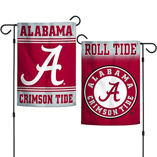 Elite Fan Shop Alabama Crimson Tide Team Garden Flag 12.5