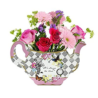 Talking Tables Alice In Wonderland Party Supplies | Vase Centrepiece | Great For Mad Hatter Tea Party, Birthday Party And Baby Shower | Paper: Kitchen & Dining