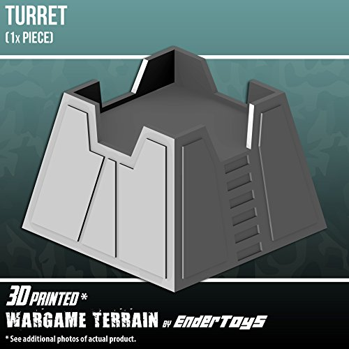 EnderToys Turret, Terrain Scenery for Tabletop 28mm Miniatures Wargame, 3D  Printed and Paintable