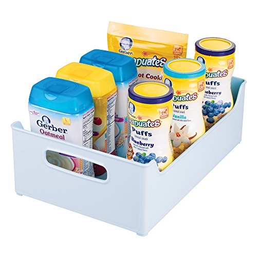 mDesign Baby Nursery Storage Organizer Bin for Food Pouches, Formula, Lotion, Diapers - 10