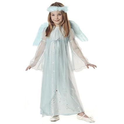 Amazon.com: Disfraz ángel azul del niño (Tamaño: X-Small 4 ...