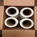4 Rolls Stretch Wrap 18''x 1000 feet x 80 gauge (Pack of 4)