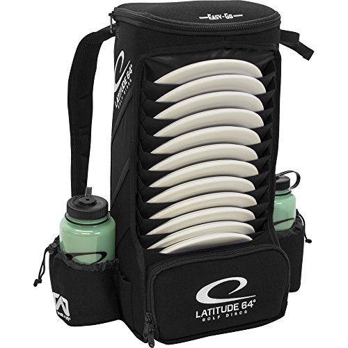 Latitude 64 Easy-Go Black Backpack Disc Golf Bag