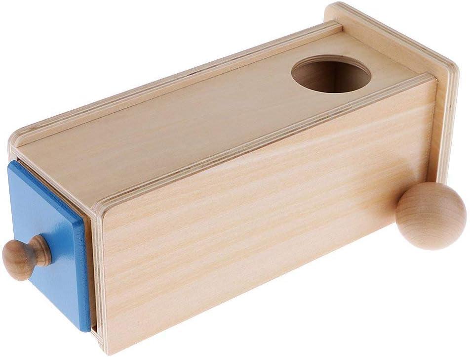 Backbayia Montessori - Cajón rectangular de madera, juguete educativo, caja de correspondencia esférica: Amazon.es: Bebé