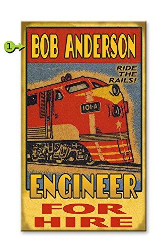 Train Engineer Wood Sign 18x30