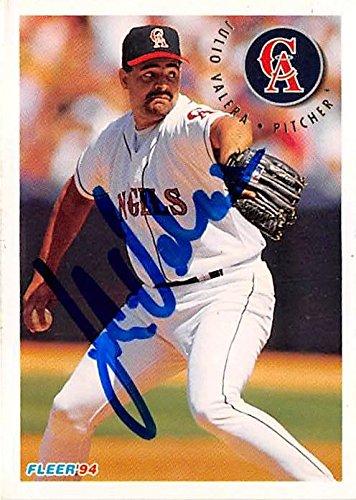 Julio Valera Autographed Baseball Card California Angels