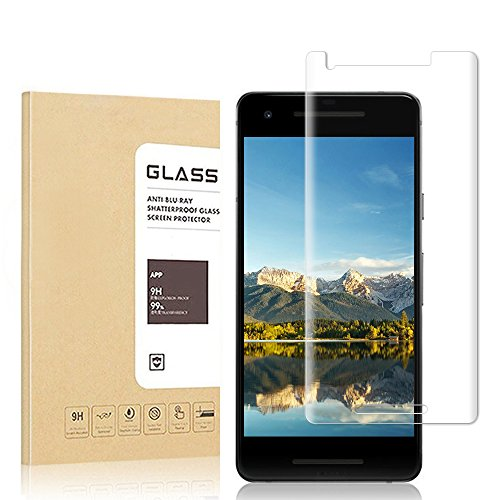 Google Pixel 2 Screen Protector, Hoperain - Bubble Free, 9H Hardness, Fingerprinting, Full Coverage, Easy-Mount, HD Transparent Tempered Glass Screen Protector for Google pixel 2 [Full Rim]
