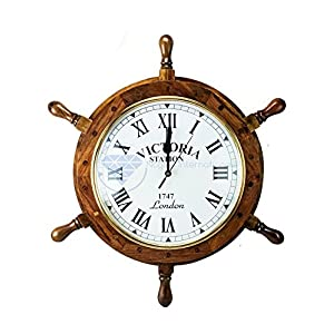 51RA1VCFnYL._SS300_ Best Ship Wheel Clocks
