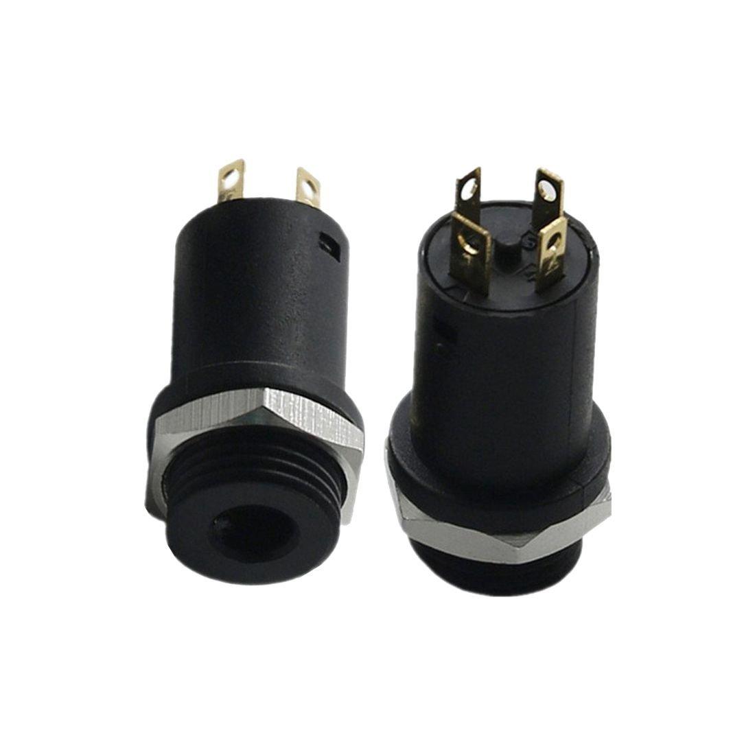 Black 4 Conductor SODIAL 10PCS 3.5MM Mini Stereo Female Panel Mount Headphone Jack Solder