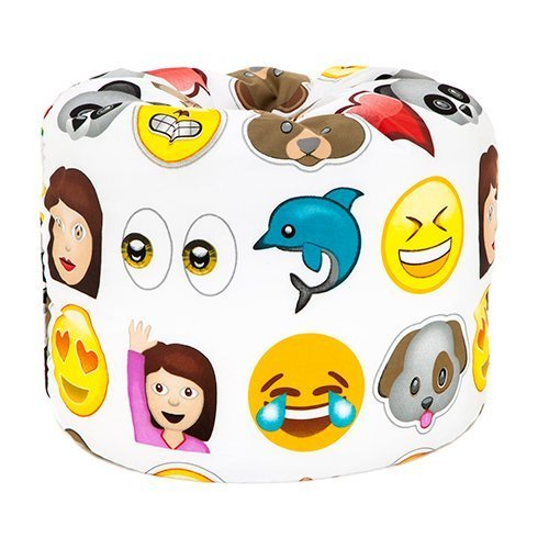 Emoji Emoticons Print Childrens Ready Filled Fun Bean Bag Seat Kids Furniture