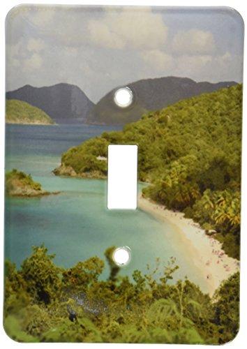 (3dRose lsp_70005_1 USVI, St. John, Trunk Bay, Virgin Islands NP Single Toggle Switch)