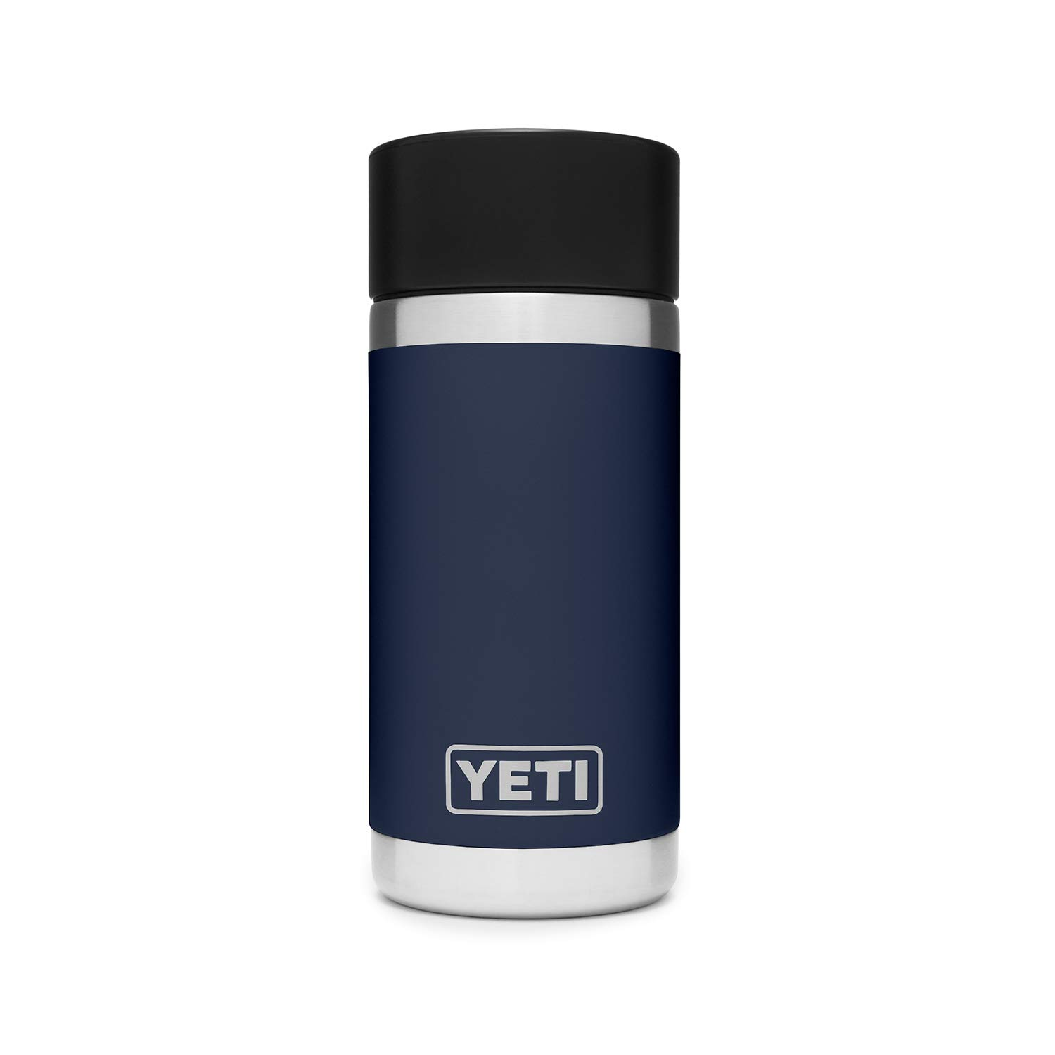 YETI Rambler 12 oz Stainless Steel Vacuum Insulated Bottle with Hot Shot Cap, Navy