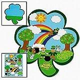 SALE - 12 Shamrock St. Patricks Day Kids Sticker Scenes | Childrens Craft Stickers