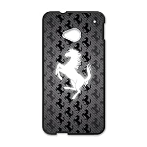 New Style Custom Picture Ferrari sign fashion cell phone case for HTC One M7