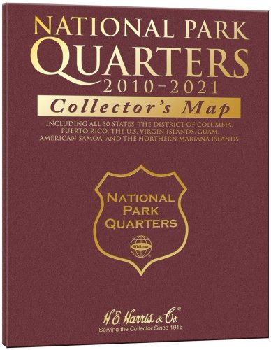 National Park Quarter Collector's Map