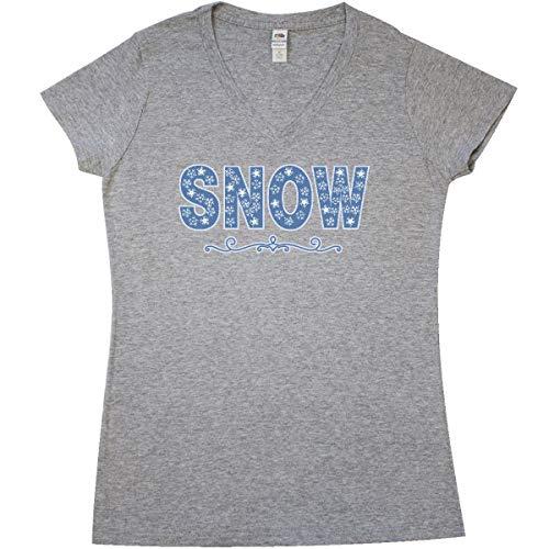 inktastic - White Junior V-Neck T-Shirt Medium Athletic Heather Grey ()