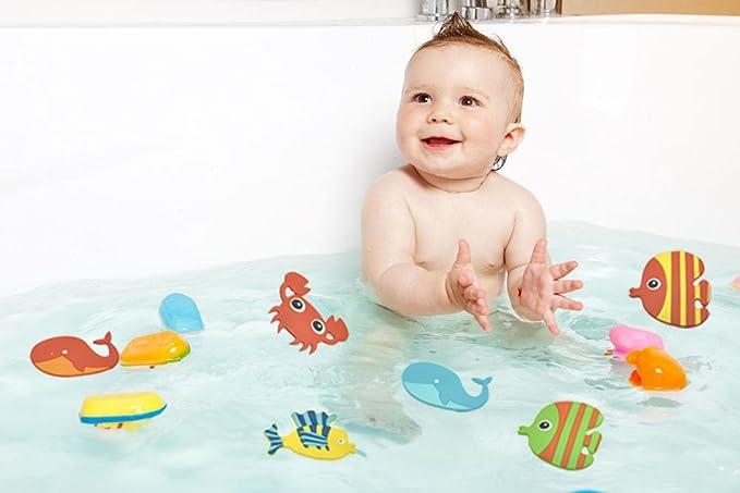 Peiqi Bathtub Anti Skid Stickers 6 Marine Life Decorate Stickers