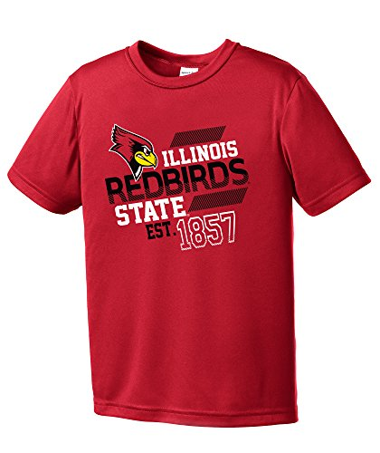 (NCAA Illinois State Redbirds Youth Boys Offsides Short sleeve Polyester Competitor T-Shirt, Youth Large,Red)