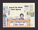 Travel Agent Gift Personalized Custom Cartoon Print 8x10, 9x12 Magnet or Keychain